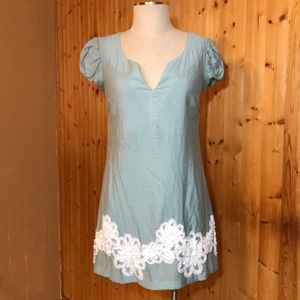 LikeNew Nick&Mo Robin's Egg Pastel Blue Lace Dress